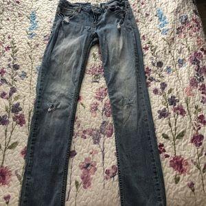 Aeropostale Distressed Bayla Skinny Jeans Sz 1/2 S